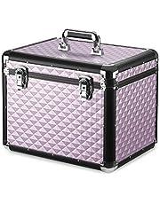 Navaris verzorgingsbox voor paarden - Lichtgewicht aluminium - Afsluitbaar met 2 sleutels - Roze - Poetskist voor paard en pony - Robuust design