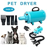 YaeCCC Portable Dog Cat Pet Grooming Dryer 2400w Salon Blow Hair Dryer Quick