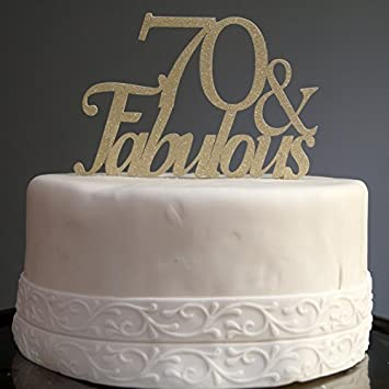 All About Details Gold 70fabulous Cake Topper by All About