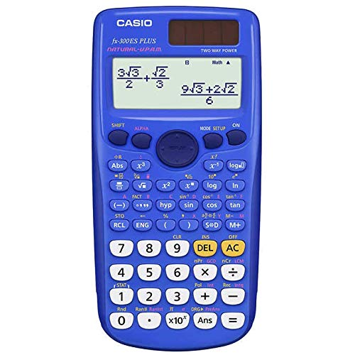 Casio Exam Approved Scientific Calculator: Homework/Classwork - Blue