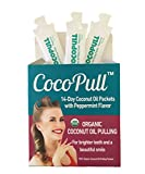 AVIVA PURE CocoPull Organic Coconut Oil Pulling Natural Teeth Whitener - 14 Unrefined Coconut Oil Pulling Packets With Organic Peppermint Oil - Natural Oral Care And Bad Breath Remedy