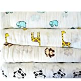 Cheap Roo Threads 4 Pack Large Baby Muslin Swaddle Blankets – Plus Bandana Bib
