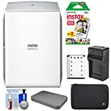 Fujifilm Instax SHARE SP-2 Instant Film Wi-Fi Smartphone Printer (Silver) with 20 Color Prints + Battery & Charger + Custom Foam Case + Kit