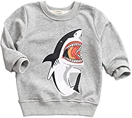 Baby Boy Pullover Cartoon Shark Sweatshirt