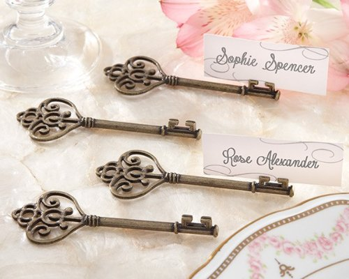 Key To My Heart' Victorian-Style Key Place Card Holder - Total 96 items by Kateaspen