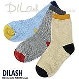 (ディラッシュ) DILASHクルーソックス(MIX)/秋 S(13~15cm) ブルー
