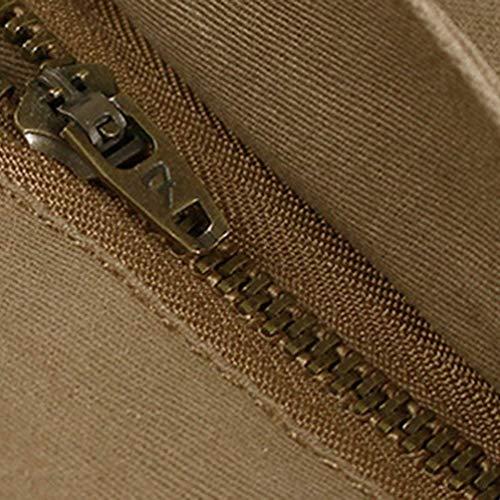 Ad Lavoro Carico Pantaloni Larghi Militari Acqua Da Casual Per Il Riscaldamento Cotone Tasche Khaki Uomo Multi In UxBRwx0
