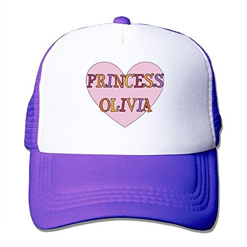 ZhiqianDF Momen's Olivia Classic Football Purple Mesh Hat Adjustable - Hot Olivia Palermo