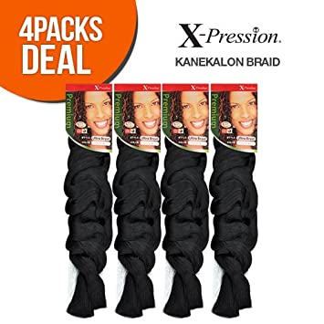 Amazon Com Outre Xpression Kanekalon Braid 4 Pack 1 Beauty