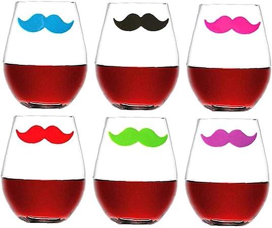 ABOOFAN 12Pcs Breloques en Verre /à Vin Marqueurs de Boisson en Silicone Identifiants Identifiants de Tasse en Verre /Étiquette de Reconnaissance pour Cocktails Martinis Fl/ûtes /à Champagne