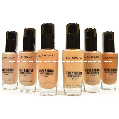 Foundation Set (6 FULL KLEANCOLOR SUPER NATURAL LIQUID FOUNDATION LF1295 MOISTURE BOOST SPF15 + FREE)