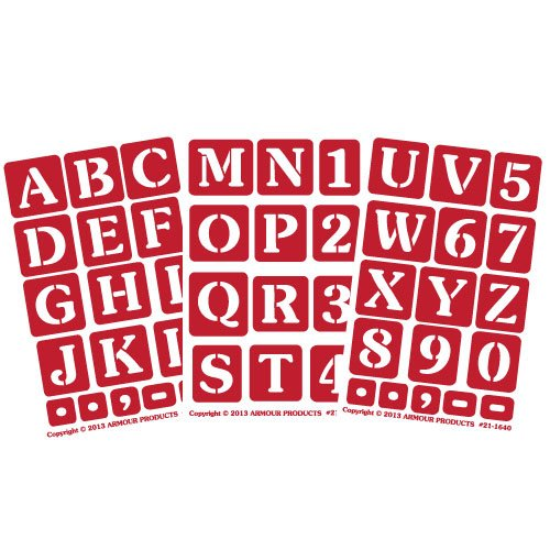 Armour Products Etch Over N Over Stencil with 1.5-Inch Letters, 3 ()