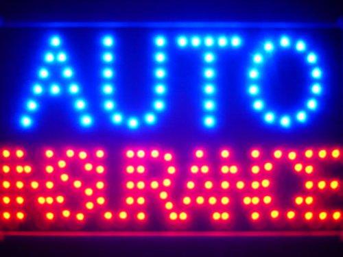 ADV PRO led137-b Auto Car Insurance Led Neon Sign WhiteBoard