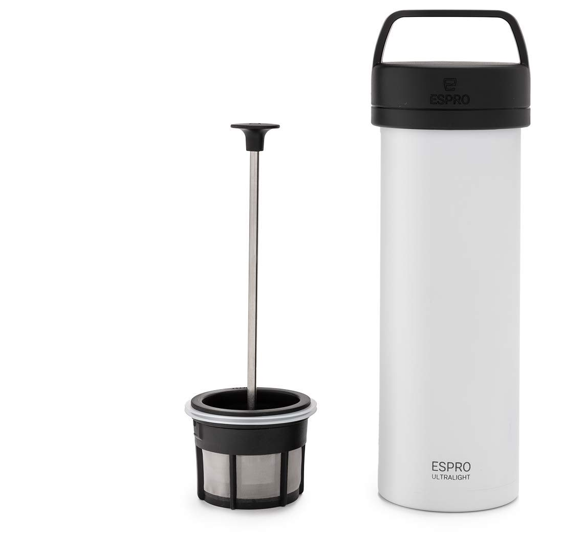 Espro 5116C-18WT Ultralight Coffee Press, Vacuum Insulated, Stainless Steel, 16 oz, Matte Chalk White