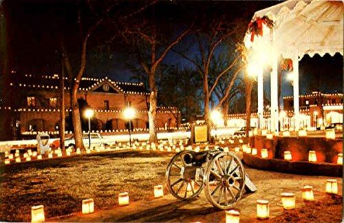 Christmas Luminarios, Old Town Plaza Albuquerque, New Mexico Original Vintage Postcard (Christmas Postcards Old)