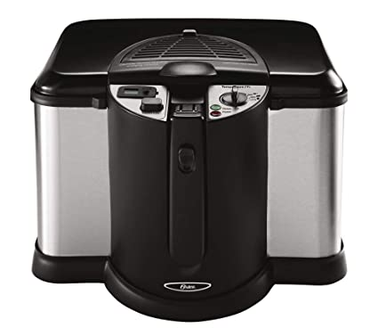 Oster CKSTDFZM70 4-Liter Cool Touch Deep Fryer, Black and Stainless Steel