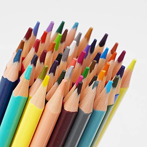 Colored Pencils Set, Vibrant 48 Colors,Triangular shaped,Perfect for Adults Coloring and Kids Doodling Drawing Painting Sketching Writing,Pre-sharpened