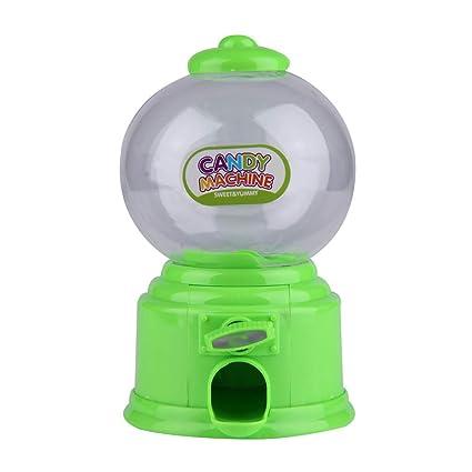 Máquina OurLeeme Mini caramelo de la burbuja Juguete dispensador de monedas del Banco de