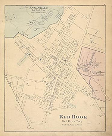 Amazon.com: Historic 1876 Map | Annandale [Village]; Red Hook ...
