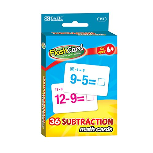 BAZIC Subtraction Flash Cards (36/Pack) ()