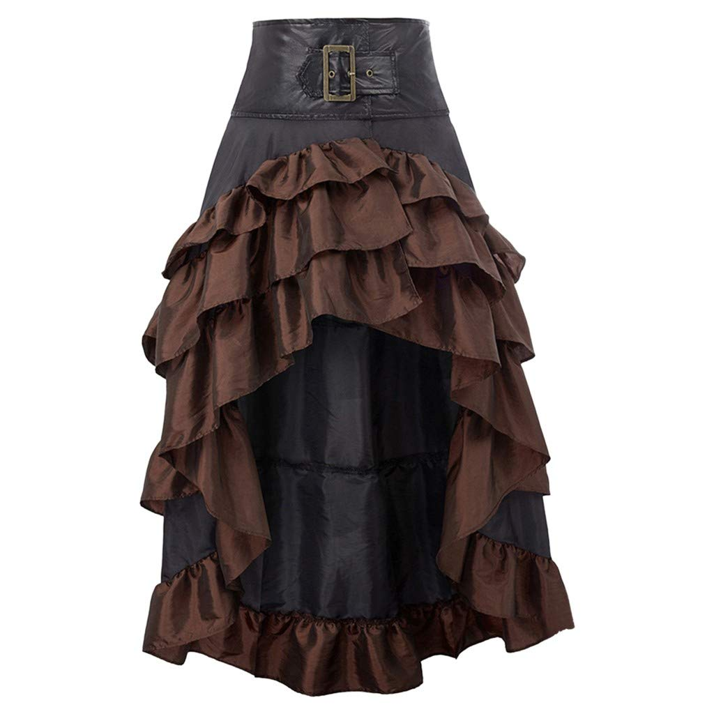 Yemenger Women's Skirt Gothic Sexy Vampire Costumes Anime Cosplay Princess Dress Halloween Dresses for Women Vintage Brown by Yemenger_dress