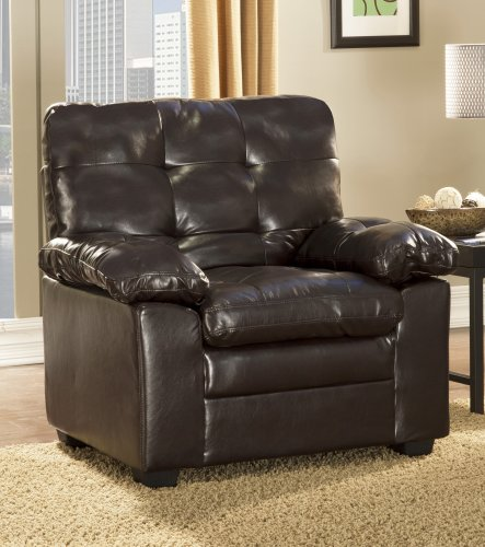 Homelegance Charley 9715PU-3 Bi-Cast Vinyl Sofa, Dark Brown