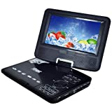Buyee Rotating Swivel Screen Handheld Portable DVD Player LCD Screen with Function of VCD CD SD TV MP3 MP4 USB Games Car Charge (7.5 inch)