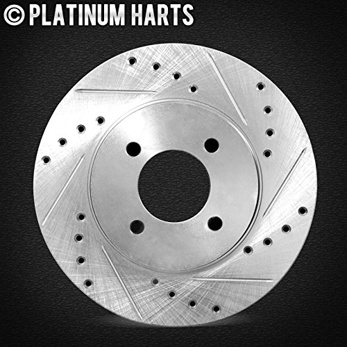 BLACK HART DRILLED SLOTTED BRAKE ROTORS FRONT BMW 330Ci