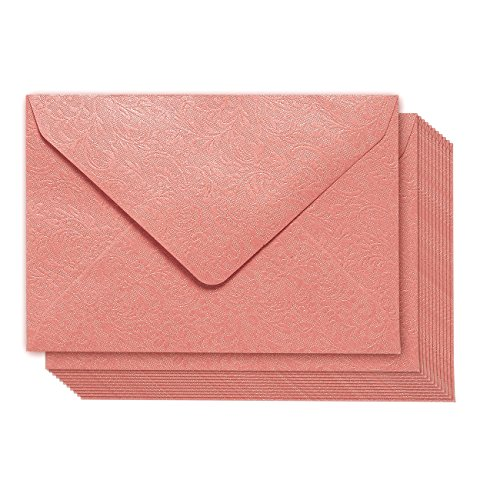 Mini Envelopes - 100-Pack Gift Card Envelopes, Business Card Pocket Envelopes Perfect for Invitations, Greeting Cards, Announcements, Floral Pattern, Pink, 4.3 x 3 Inches