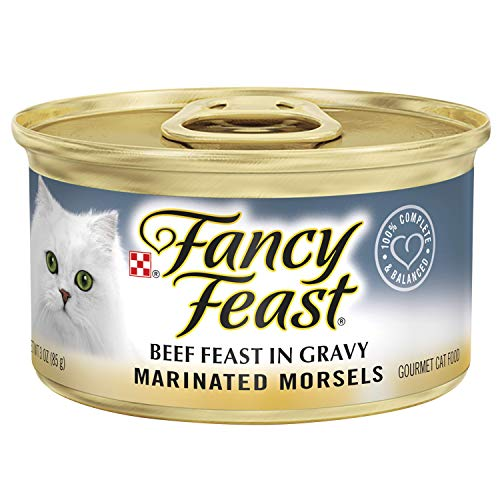 (Purina Fancy Feast Marinated Morsels Beef Feast In Gravy Wet Cat Food - 3-Ounce Cans (Pack of 24) )