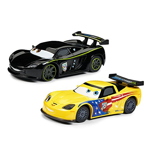 - Disney Jeff Gorvette & Lewis Hamilton Pull 'N' Race Die Cast Set - Cars