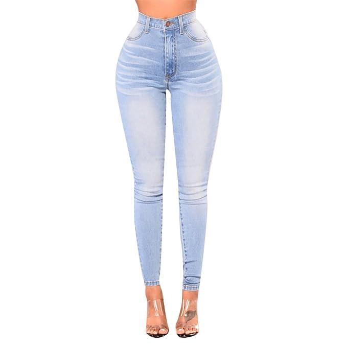 ab0fe27b885c2c Rela Bota Women's High Waist Denim Skinny Jeans Stretch Butt Lift Comfy  Pants Medium Light Blue at Amazon Women's Jeans store
