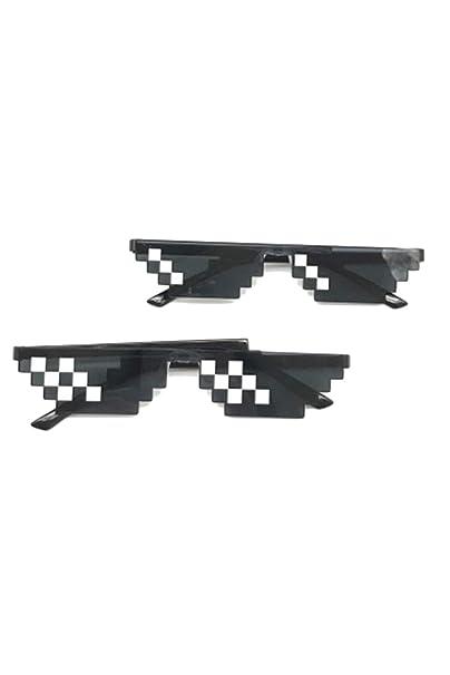 Zinmuwa Gafas De Sol Unisex Anime Pixelado Mosaico Gafas De ...