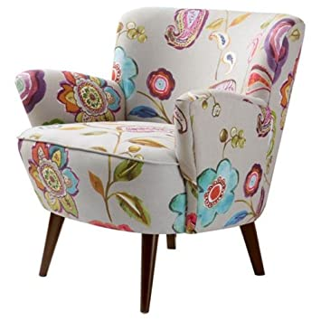 Modern Floral Accent Chair Decoration