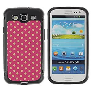 "Hypernova Defender Series TPU protection Cas Case Coque pour Samsung Galaxy S3 III I9300 [Patrón de lunares""]"