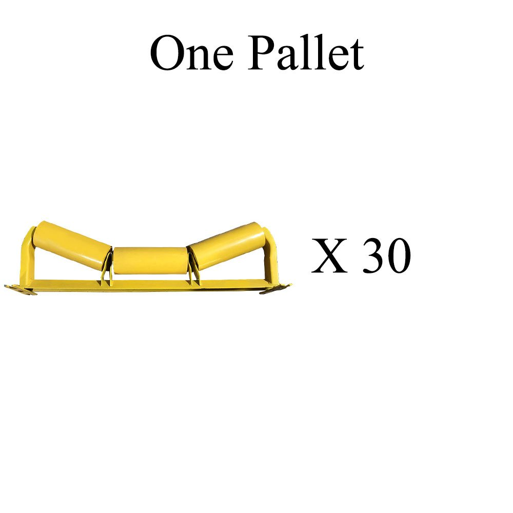 "C20-36 C5-20E-36 One Pallet (X30) of Trougher Equal Idlers – 20 Degrees, 5"" Diameter, 36"" Belt Width by AIS Construction Equipment"