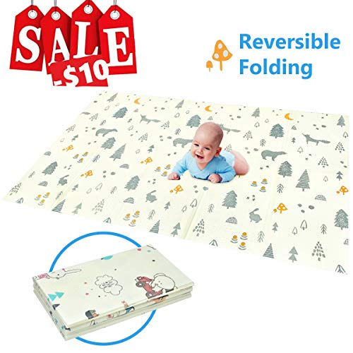 (Folding Play Mat | BPA Free Non-Toxic Foam Baby Care Playmat (5FT x 6.6FT) 0.4