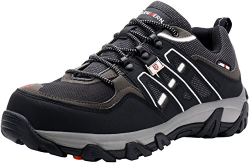 LARNMERN Men's Work Safety Boots Steel Toe Footwear Industrial and Construction Hiking Shoes
