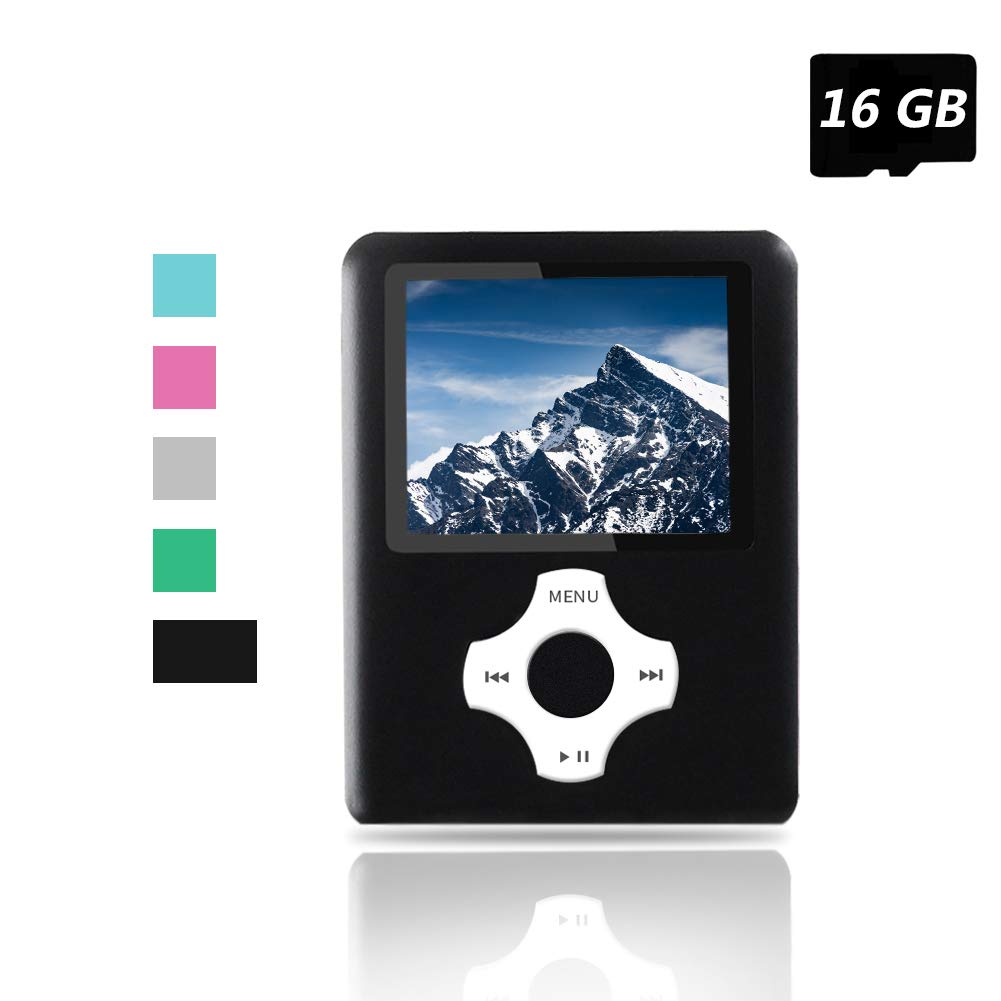 with a 16GB SD Cards Economic Player blue Portable Digital Music Player//Video Player//E-Book Reader//Picture Viewer Ueleknight MP3 MP4 Player