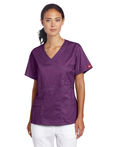 Dickies Scrubs Women's Gen Flex Mock Wrap Shirt