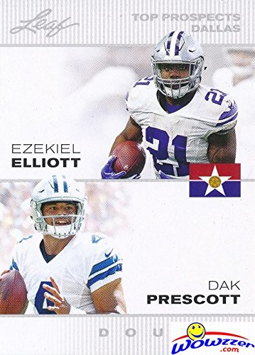Dak Prescott & Ezekiel Elliott 2016 Leaf FIRST EVER Printed DUAL ROOKIE CARD in MINT Condition! Shipped in Ultra Pro Top Loader to Protect It! Awesome ROOKIE Card of Cowboy's Young Superstars! (Best Rookie Cards To Own)