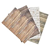 Pacon Ella Bella Photography Backdrop Paper, 4' by 12', 4 Assorted Wood Designs (2506)