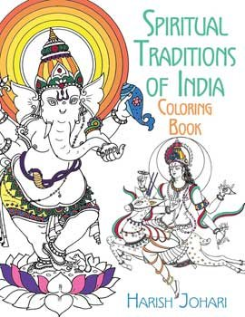 Fortune Telling Toys Spiritual Traditions of India Coloring Book Balance Chakras Enhance Health