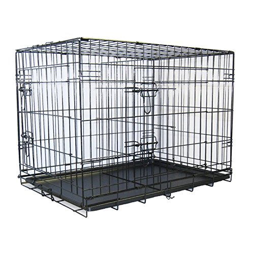 Go Pet Club 36-Inch Two Door Folding Metal Cage with Divider