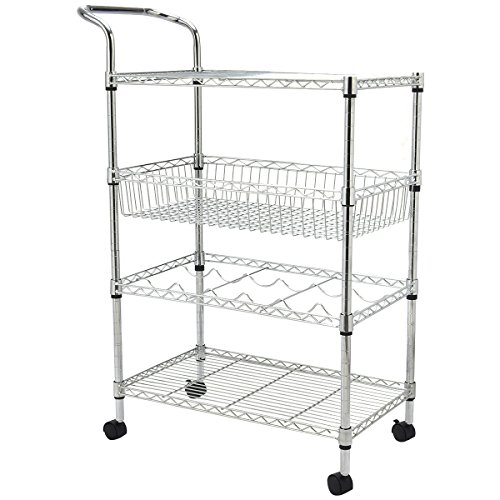 Giantex Rolling Kitchen Trolley Capacity