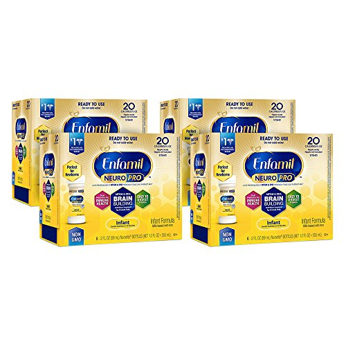 Enfamil NeuroPro Infant Formula - Brain Building Nutrition Inspired by Breast Milk - Ready to Use Liquid, 2 fl oz (24 count)