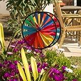 Windspiel - Magic Wheel Twin 25 - UV-beständig und wetterfest - Windräder: 2xØ25cm, Höhe: 65cm - inkl. Fiberglasstab