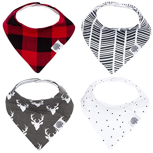 - Parker Baby Bandana Drool Bibs - 4 Pack Baby Bibs for Boys, Girls, Unisex -