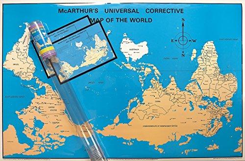 McArthur's Universal Corrective World Map laminated & gift version