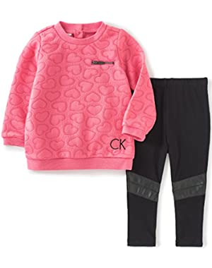Baby Girls' 2 Piece Tunic/Pleather Leggings Set